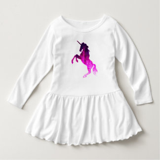 Vestido Imagem sparkly do unicórnio bonito cor-de-rosa da