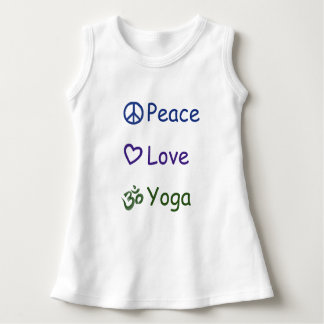 Vestido Ioga do amor da paz
