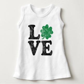 Vestido Irlandês do trevo do AMOR do Dia de São Patrício