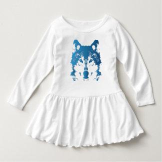 Vestido Lobo do azul de gelo da ilustração