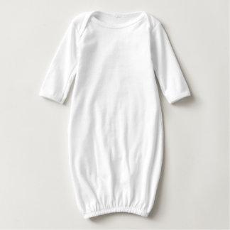 Vestido longo da luva do bebê da mandala, branco camisetas