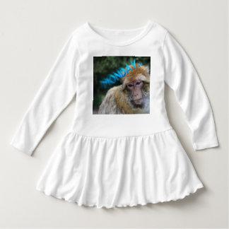 Vestido Macaco triste sobre segunda-feira