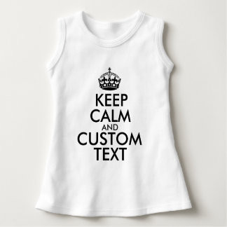 Vestido Mantenha a calma e criar seus próprios fazem para