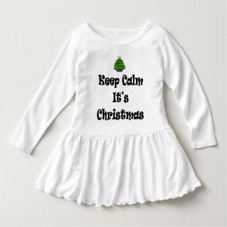 Vestido Mantenha a calma seus Natal e árvore