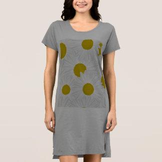 Vestido Marguerite colorido do roxo do teste padrão do