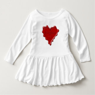 Vestido Meghan. Selo vermelho da cera do coração com