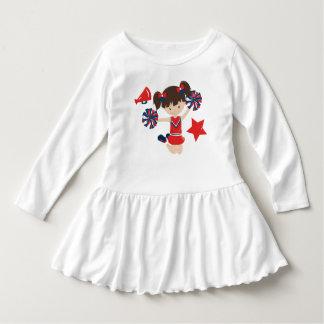 Vestido Menina minúscula do cheerleader