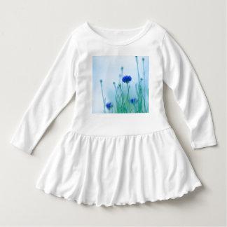 Vestido meninas de flor azuis superiores