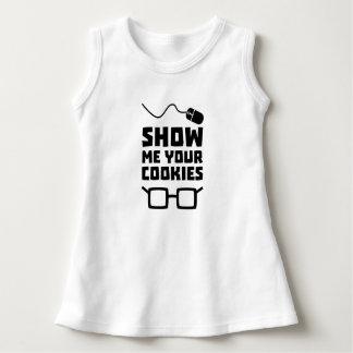 Vestido Mostre-me seu geek Zb975 dos biscoitos