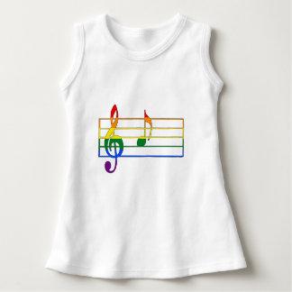 """Vestido Nota musical do arco-íris """"A"""""""