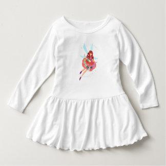Vestido oficial do plissado da criança do vestido