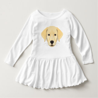 Vestido Ouro Retriver do filhote de cachorro da ilustração