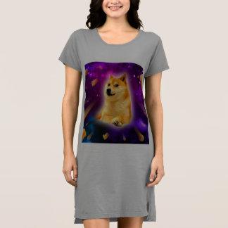 Vestido pão - doge - shibe - espaço - uau doge