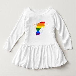 Vestido Peixe-boi do arco-íris