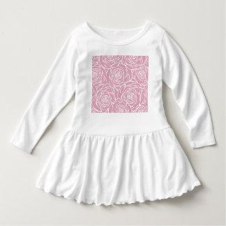 Vestido Peônias, floral, branco, cor-de-rosa, teste