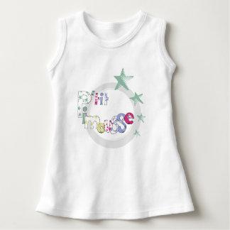 "Vestido Pingamento branco bebé ""P' tit Pimousse"", estrelas"