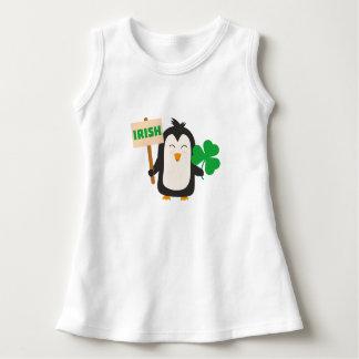 Vestido Pinguim irlandês com trevo Zjib4
