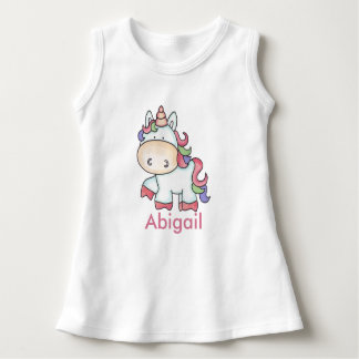 Vestido Presentes personalizados do unicórnio de Abigail