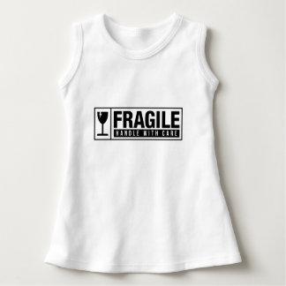 Vestido Punho frágil com cuidado