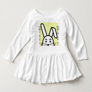 Vestido Roupa do bebê do plissado