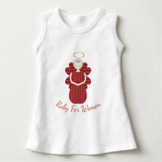Vestido Rubi para o anjo do vermelho das mulheres