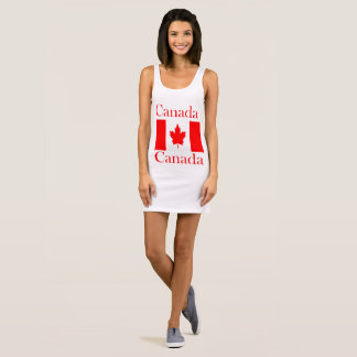 Vestido Sem Manga Bandeira conhecida de Canadá