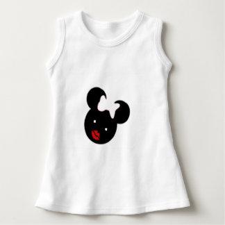 Vestido sem mangas Cutie do bebê