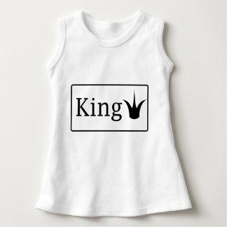 Vestido sem mangas do bebê do rei