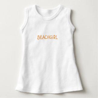 """Vestido sem mangas do verão """"BEACHGIRL"""" do bebé"""