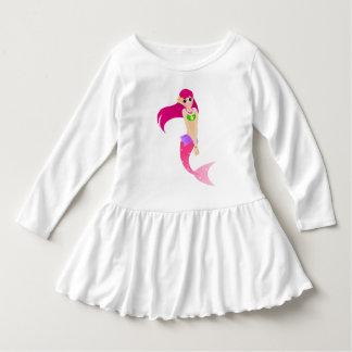 Vestido Sereia cor-de-rosa