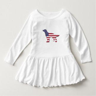 "Vestido Setter inglês - ""bandeira americana """