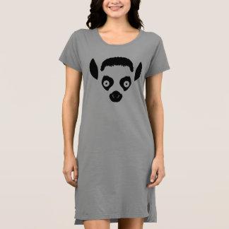 Vestido Silhueta da cara do Lemur