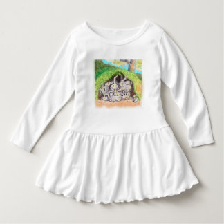 Vestido Sprout de Annabelle; Coelhos do quintal