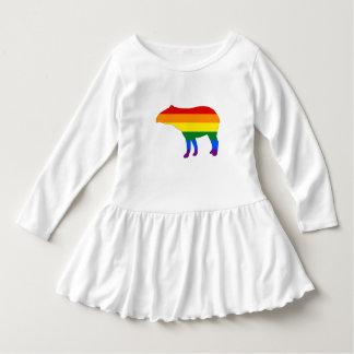 Vestido Tapir do arco-íris