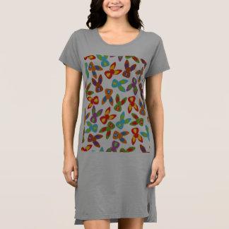 Vestido Teste padrão psicótico da páscoa colorido