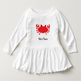 Vestido Vermelho do caranguejo do mar