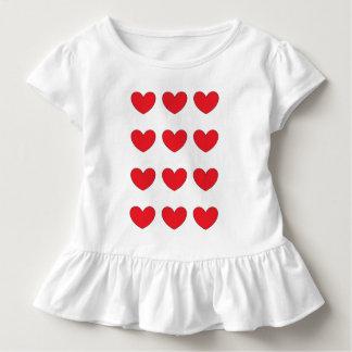 vestido vermelho do coração para a criança