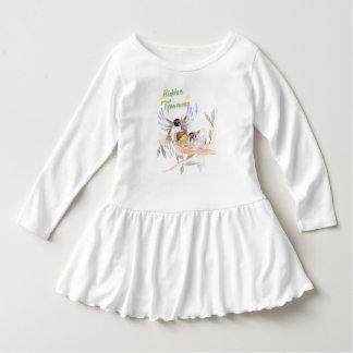 """Vestido """"Vestido do plissado da criança dos tesouros"""