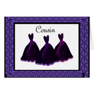 Vestidos do ROXO do convite da dama de honra do Cartao