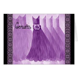 Vestidos do ROXO do convite da dama de honra do Cartões