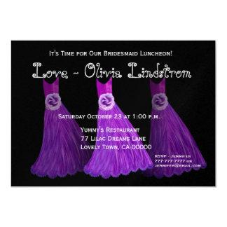 Vestidos do roxo real do almoço ou da refeição convites personalizado