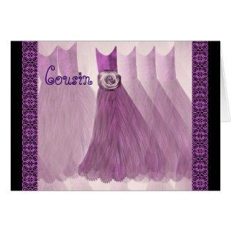 Vestidos ROXOS da AMEIXA do convite da dama de Cartões