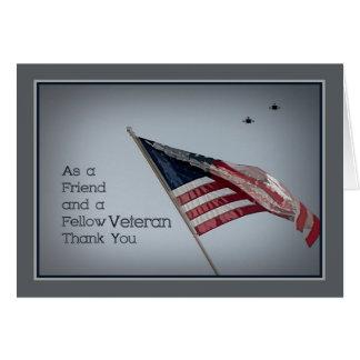 Veterano da amizade ao dia de veteranos do cartão