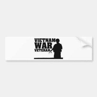 Veterano de guerra do vietname adesivo para carro