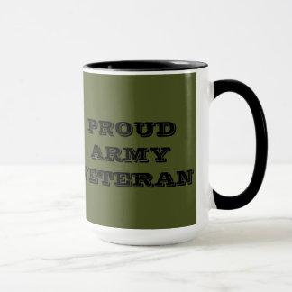 Veterano orgulhoso do exército da caneca
