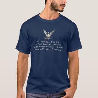 Veteranos de guerra civis da família de camiseta