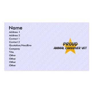 Veterinário animal orgulhoso do cuidador cartões de visitas