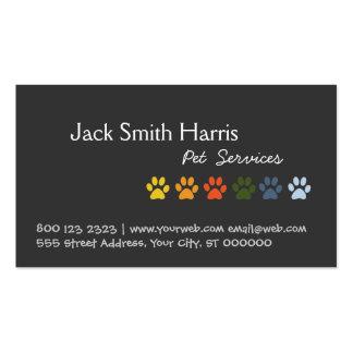 Veterinário colorido do animal de estimação do cão cartões de visitas