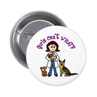 Veterinário fêmea claro botons