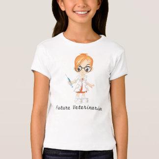 Veterinário futuro com seringa camiseta